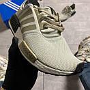 Женские кроссовки Adidas NMD Runner Grey Green / Адидас НМД Серые Зеленые, фото 7