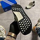 Женские кроссовки Adidas NMD Runner Grey Green / Адидас НМД Серые Зеленые, фото 8