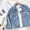 Джинсовая куртка Размер 42-46. Цвет: голубой. (20010), фото 6