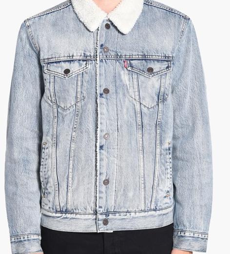 Зимняя джинсовая куртка Levis Trucker -  Fine Line