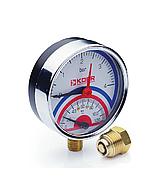 Термоманометр радиальный KOER KM.821R 0-4 бар 0-120°С D=80мм, 1/2''