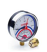 Термоманометр радиальный KOER KM.821R 0-6 бар 0-120°С D=80мм, 1/2''