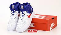 Кроссовки мужские Nike Air Force  в стиле Найк Аир Форс белые высокие