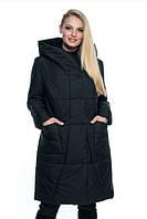 Женская куртка удобная стильная демисезонная большого размера 46-60 р  черный, пудра, капучино
