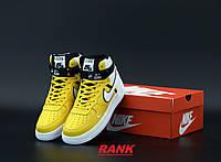 Кроссовки мужские Nike Air Force 1 в стиле Найк Аир Форс 1 высокие желтые 45