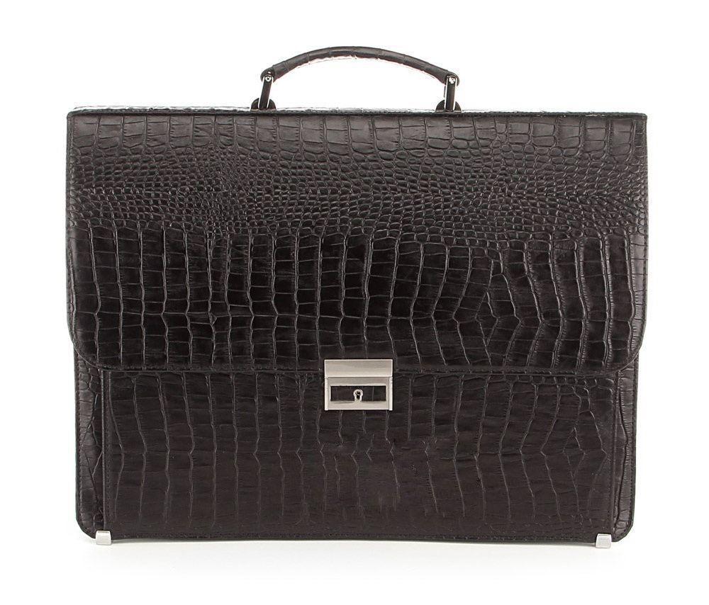 Портфель деловой SHVIGEL 00362 из натуральной кожи Черный, ЧерныйНет в наличии