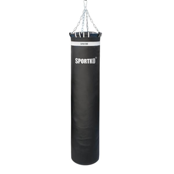 Мешок боксерский кожаный Олимпийский SPORTKO ( вес 75 кг. размер 180х35 см.)