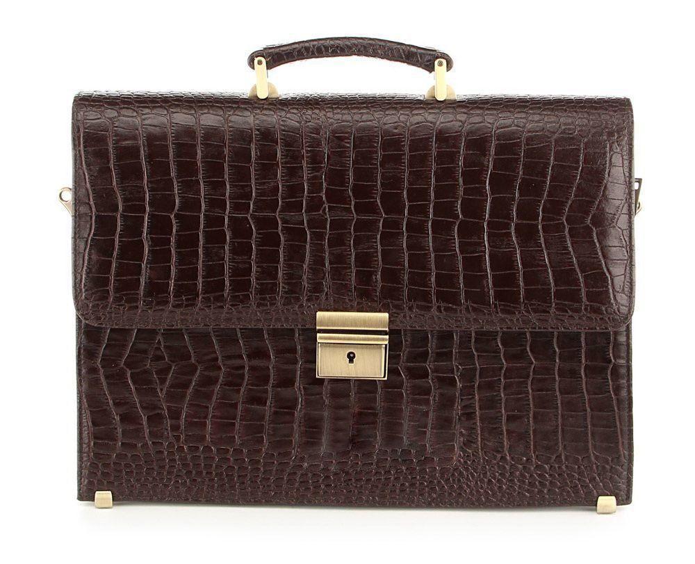 Портфель деловой SHVIGEL 00364 из натуральной кожи Коричневый, КоричнеНет в наличии