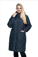 Женская куртка удобная стильная демисезонная большого размера 54-70 р синий, мята,  марсал, малахит цвет