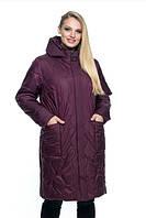 Женская куртка удобная стильная демисезонная большого размера 54-70 р марсал, синий, мята,   малахит цвет