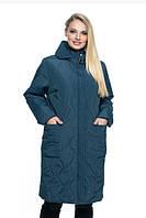 Женская куртка удобная стильная демисезонная большого размера 54-70 р малахит, марсал, синий, мята цвет