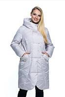 Женская куртка удобная стильная демисезонная большого размера 44-56 р жемчуг, мята, синий, цвет