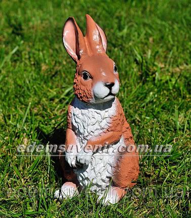 Садовая фигура Заяц сидячий, фото 2