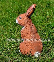 Садовая фигура Заяц сидячий, фото 3