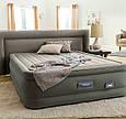 Надувна ліжко двоспальне Intex PremAire 64770 (203x152x46 см) з вбудованим електричним насосом, фото 6