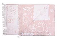 Плед хлопковый Love You 140х200 Коты розовый