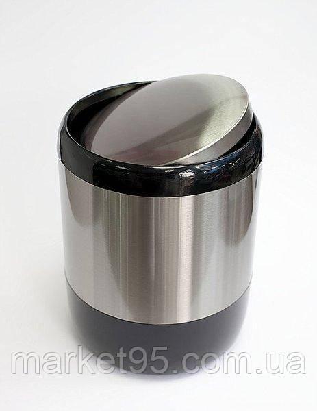 Ведро для мусора 6 л Primanova чёрное