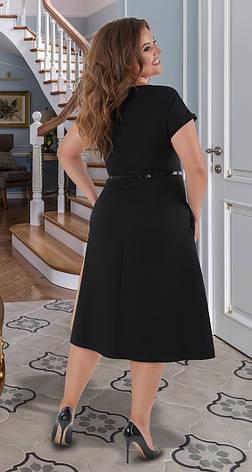 Модное женское комбинированное платье 50,52,54,56р., фото 2