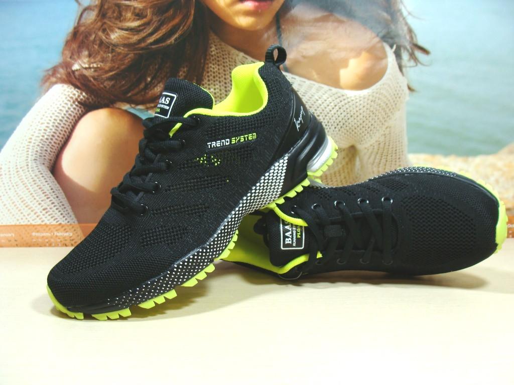 Мужские кроссовки BaaS Marathon - 2 черно-салатовые 46 р.