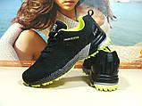 Мужские кроссовки BaaS Marathon - 2 черно-салатовые 46 р., фото 2