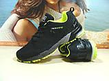 Мужские кроссовки BaaS Marathon - 2 черно-салатовые 46 р., фото 3