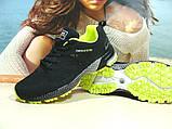 Мужские кроссовки BaaS Marathon - 2 черно-салатовые 46 р., фото 7
