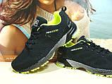Мужские кроссовки BaaS Marathon - 2 черно-салатовые 46 р., фото 5