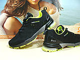 Мужские кроссовки BaaS Marathon - 2 черно-салатовые 46 р., фото 4