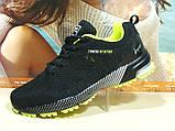 Мужские кроссовки BaaS Marathon - 2 черно-салатовые 46 р., фото 8