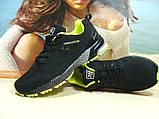 Мужские кроссовки BaaS Marathon - 2 черно-салатовые 46 р., фото 9
