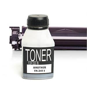 Тонер для Brother TN-2411 (чёрный порошок), 40 грамм / флакон (1 х заправка) (TNB-CRG-TN-2411-BK)