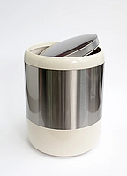 Ведро для мусора 6 л Primanova бежевое, фото 1