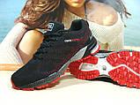 Мужские кроссовки BaaS Marathon - 2 черно-красные 43 р., фото 3
