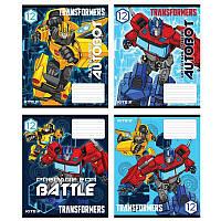 Тетрадь школьная Kite Transformers TF20-232, 12 листов, клетка