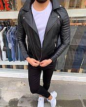 Мужская модная косуха (черная) - Турция (661)