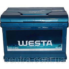 Автомобильный аккумулятор WESTA 6СТ-60 R+ Premium 600A