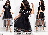 Женское Красивое Летнее Платье с сеткой, фото 1