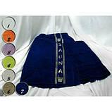 Набор для Сауны Мужской Merzuka Турция из 3 предметов полотенце-юбка на липучке , полотенце ,тапочки Синий, фото 3