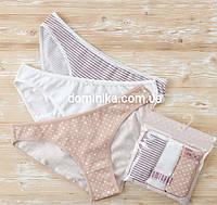 Набор женских трусов мини-бикини Dominant (Турция), 3 шт. S