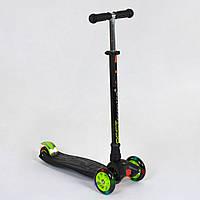Самокат детский трехколесный с подсветкой колес Best Scooter Maxi 466-113 / А 24144 Черный