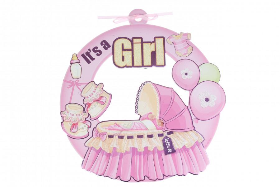 """Подвесной декор бэби шауэр """"It's a girl"""""""