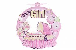"""Підвісний декор бебі шауер """"it's a girl"""""""