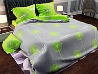 Евро размер постельного белья «Салатовый Одуванчик»