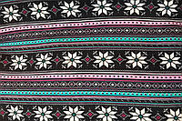 Трикотаж (Ангора на вельбо) принт орнамент розовый