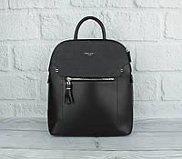Стильный небольшой рюкзак David Jones 5915-2 черный (Италия), расцветки, фото 1