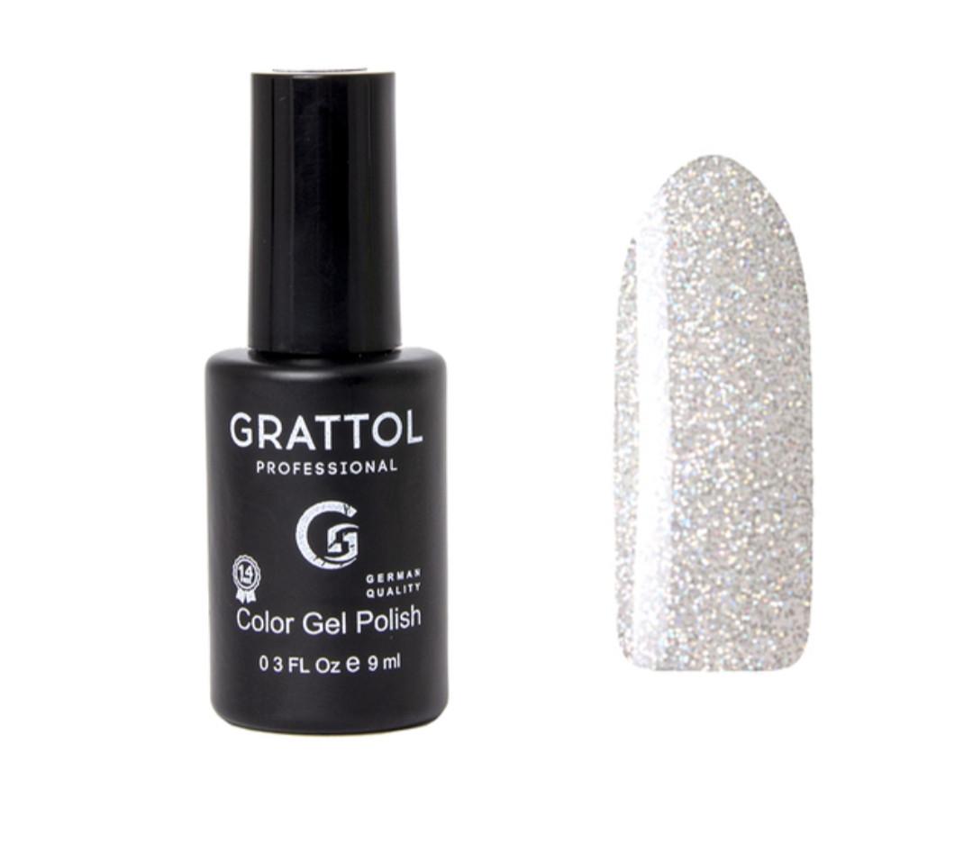 Гель-лак  Grattol opal Silver