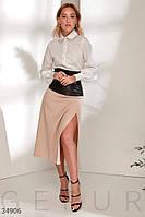Комбинированная юбка-миди XS S M L, фото 1