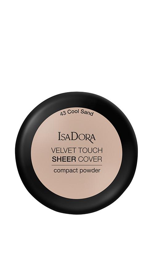 IsaDora Velvet Touch Sheer Cover Пудра Компактная 43 Cool Sand