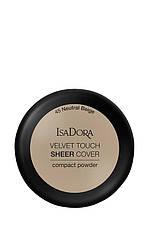IsaDora Velvet Touch Sheer Cover Пудра Компактна 45 Neutral Beige