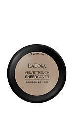IsaDora Velvet Touch Sheer Cover Пудра Компактна 47 Warm Tan